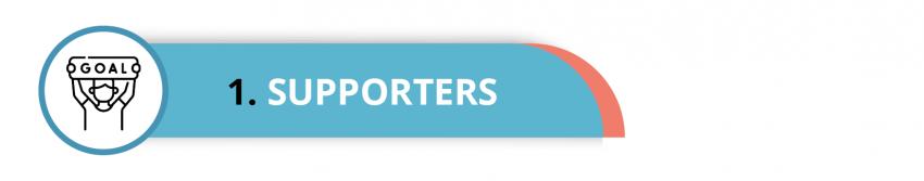 Visual met de tekst: Supporters