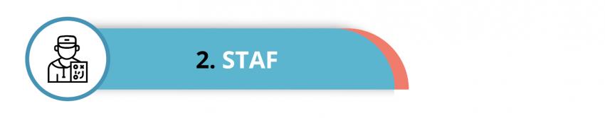 Visual met de tekst: Staf