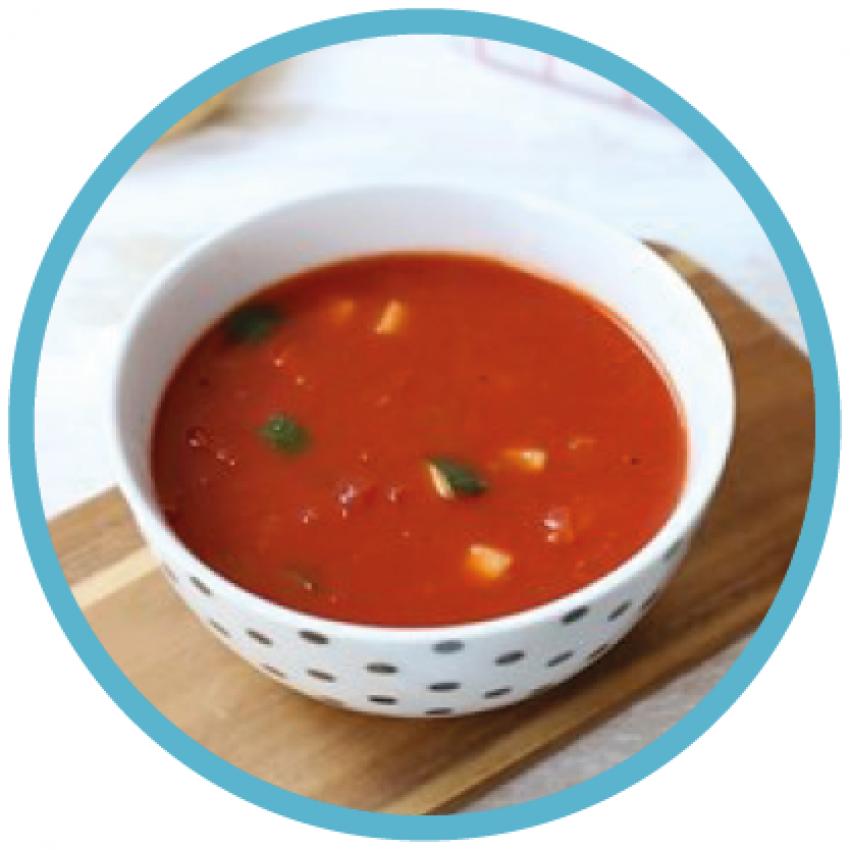 Foto van een kop soep
